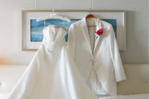 【ウェディングドレスも映えるインテリア】上品なインテリアはウェディングドレスとの相性も抜群。